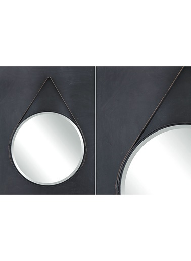 Warm Design Deri Çerçeveli Büyük Ayna Renksiz